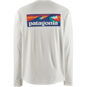 Patagonia M's Cap Cool Daily Graphic LS Shirt Boardshort Logo/White